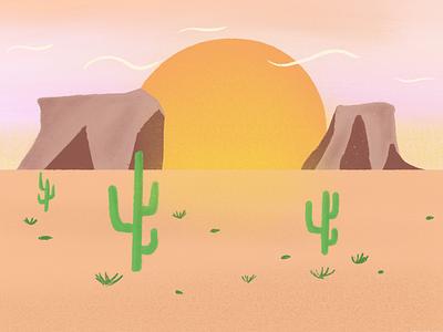 feel the heat summer hot sun dessert nature design nature landscape illustration landscape design landscape drawing digital drawing digital illustration art digital art illustration artist illustration