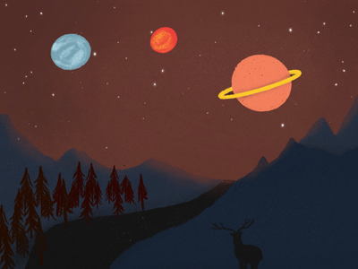 watching over the galaxy galaxy nightsky sky nature design nature landscape illustration landscape design landscape drawing digital drawing digital illustration art digital art illustration artist illustration planets planetarium