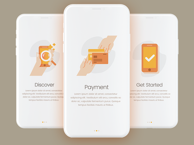 Onboarding Screens discover payment modern iphone x app design ui illustration onboarding