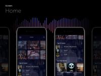 Music App UI Kit - Home