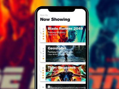Movie Ticket Booking cinema ux design iphone x app ui booking ticket movie
