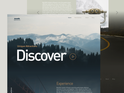 Adventures modern tourism adventure ux ui website