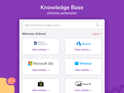 Chrome extension for Knowledge Base sketchapp figmadesign app mobile app design mobile ui document knowledge base product design web design chrome extension ux ui vector illustration clean adobe 2d minimal flat design