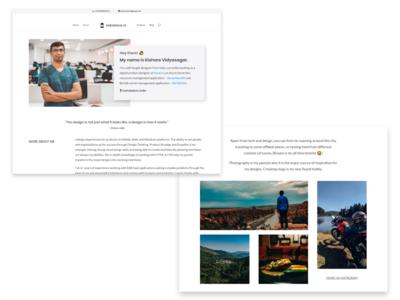 Portfolio - About Page illustraion vector ux ui white website web sketch minimal interface landing page about flat design creative concept portfolio clean app 2d