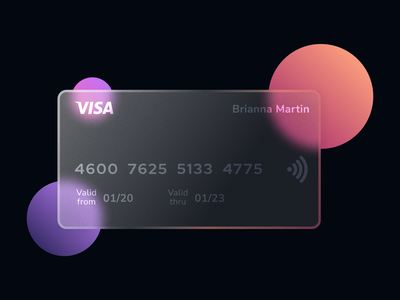 Glossy Credit Card glassmorphism identity banking freebie glow gradient card figma graphic design 3d 2d branding creative glass glossy clean design minimal flat