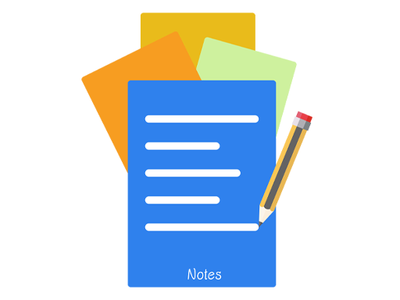 Notes 2018 card pencil notes web icon ux ui blue vector drawing clean photoshop illustration 2d adobe minimal flat design
