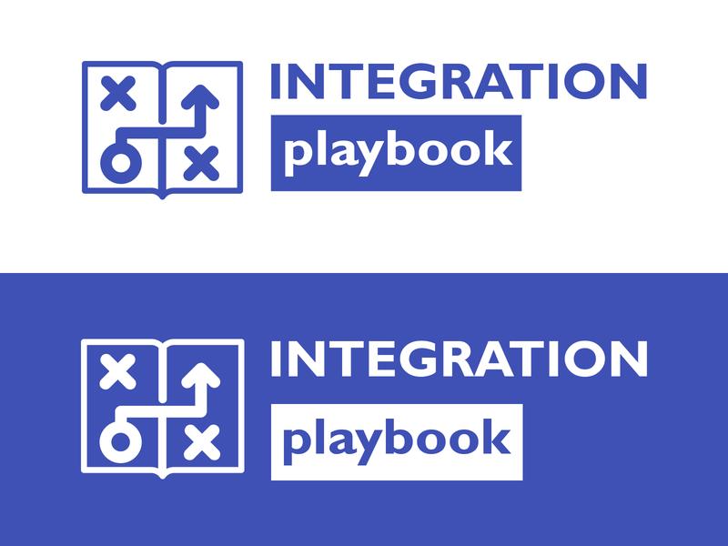 Integration Playbook Logo integration microsoft playbook typography design adobe branding blue vector clean 2d minimal flat logo