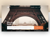 Discover París - Travel agency landing concept