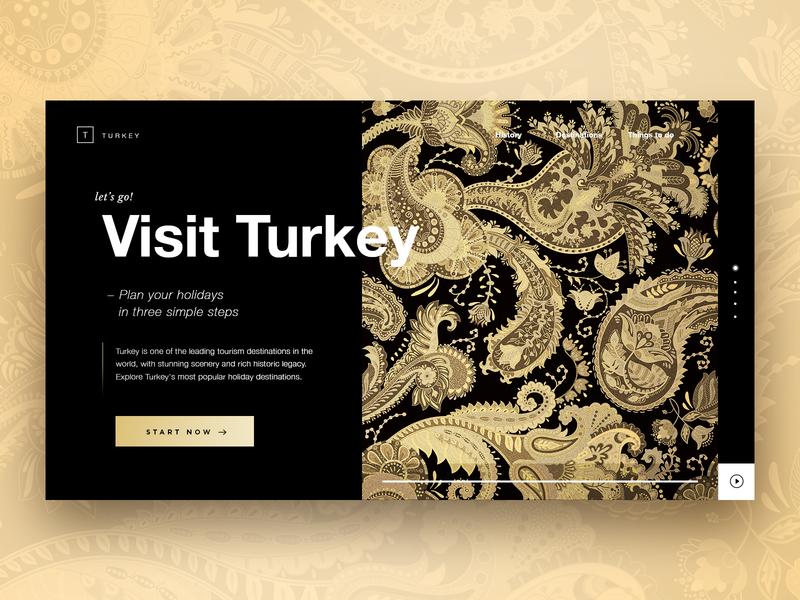 Visit Turkey, landing page concept. elegan travel prospect uidesigner ux ui turkey landingpage webdesign