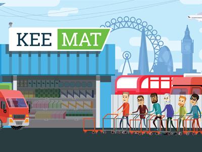 Web flat illustration for mall. market mall webillustration illustration flat