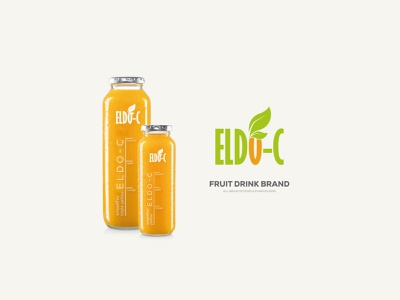 ELDO-C Logo Design green color organge clolor label design product design product logo fruit logo logo vector typography typedesign modernism innovative graphic design creative branding adobe illustrator