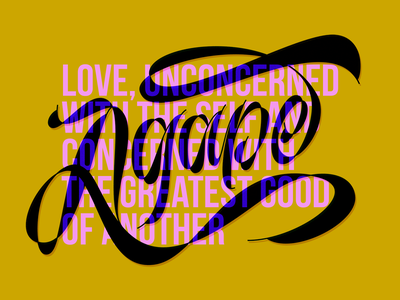 Agape letters vector design calligraphy and lettering artist customlettering calligraphy typography lettering love agape
