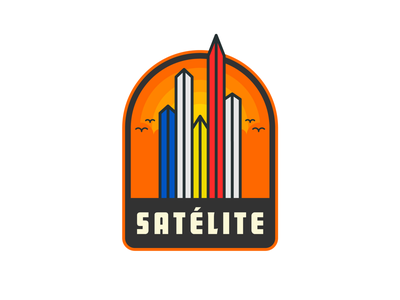 Ciudad Satélite Badge architecture méxico satélite design vector illustration badge