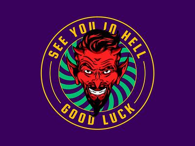 See you... 😈 badge apple pencil adobe draw illustration vector demon