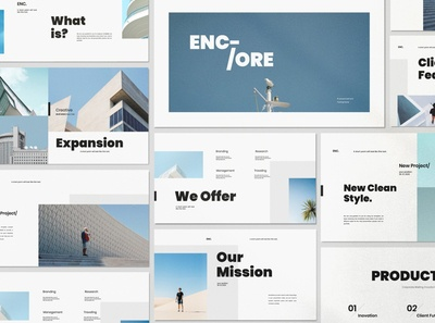 ENCORE - Minimal Clean Powerpoint