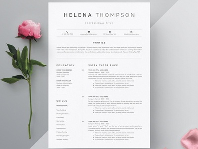Simple Resume Template from cdn.dribbble.com