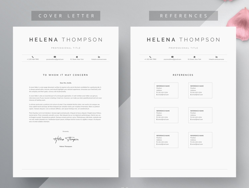 Word Resume Cover Letter Template By Templates On Dribbble