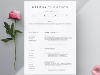 Word Resume & Cover Letter Template graphic design white cv template page art stylish luxury trending professional resume clean simple resume modern resume minimal resume resume templates word resume template resume design resume template template cover letter template cover letter word resume