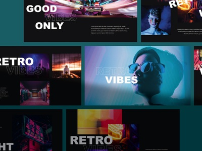 Vibes - Keynote Template clean design color light neon typography ppt template project annual urban advertising presentation layout presentations presentation template presentation design keynote presentation keynote template presentation template keynote