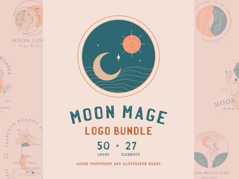 Moon Mage Logo Bundle