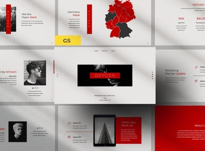 Oxygen Google Slide elegant creative clean google slide template google slides template professional simple business agency modern minimal development web development web design website corporate presentation template google slides google slide