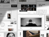 Magnolia - Minimal Keynote website user interface ux ui responsive multipurpose templates elegant simple creative business clean modern minimalism minimalist corporate presentation template keynote minimal