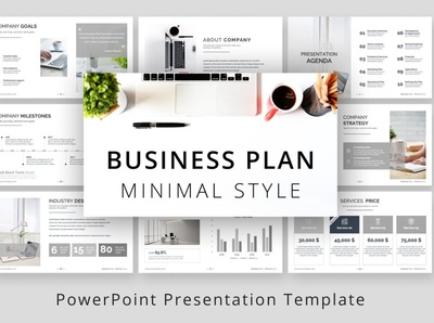 Minimal Style Business Plan PPTX mulitpurpose clean modern minimalism corporate professional template minimalist web design web development website design minimal style styles business plan planner plan business style minimal