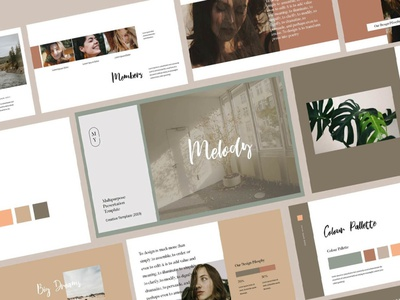 Melody - Google Slides business clean minimal template development agency web development agency web development services web development company google slides template modern simple development web development web design website corporate presentation google slide template google slides google slide