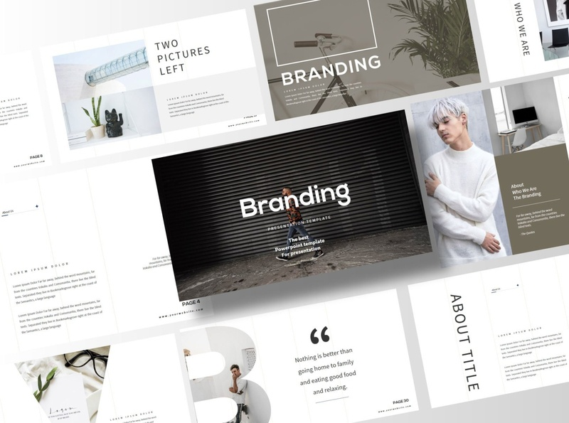 Branding - Keynote Template business clean minimal modern presentation template presentation design professional simple agency concept development web development web design website corporate presentation template keynote templates keynote template keynote