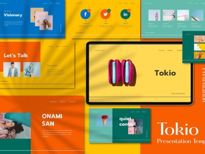 Tokio - Powerpoint web design website presentation business clean minimal modern template powerpoint templates powerpoint design powerpoint presentation concepts conceptual concept design concept art powerpoint template templates concept pastel powerpoint