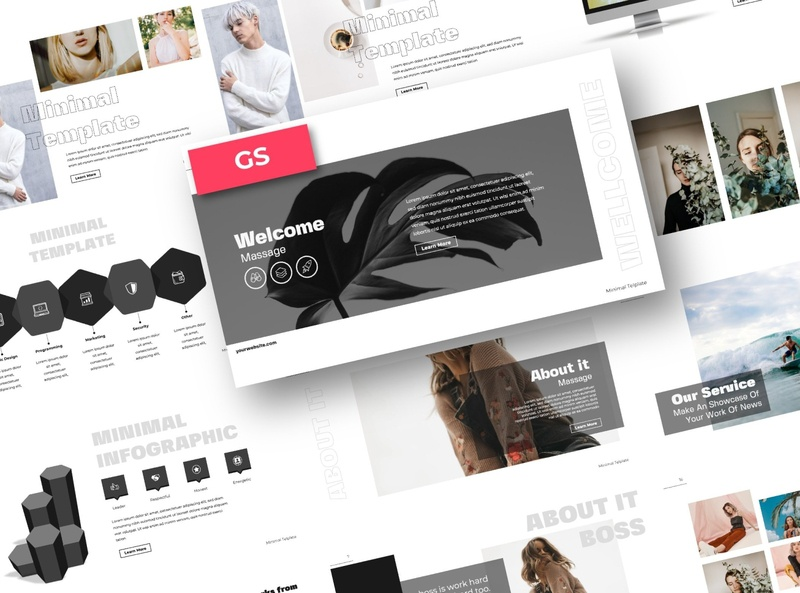 Minimal Google Slide professional elegant creative business clean minimal modern simple minimalist design development web development web design website corporate presentation template google slide template google slides google slide