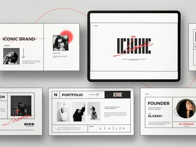 Iconic - Minimal Google Slide clean presentation layout professional simple agency concept development web development web design website presentations presentation template presentation design google slide template google slides template presentation template google slides google slide minimal