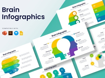 Brain Infographics element powerpoint google slides keynote graphic design elements simple creative presentation business clean minimal modern template infographics design infographic elements infographic resume infographic design infographics infographic