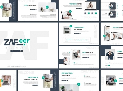Zafieer - Google Slides Template agency concept development web development web design website simple creative presentation business clean minimal modern template design templates google slide template google slides template template google slides google slide