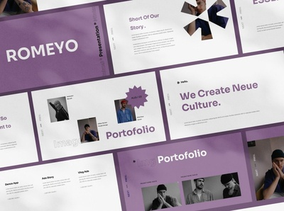 Romeyo Google Slides clean minimal proposal layout creative catalog business agency dashboard app dashboard design dashboad dashboard ui dashboard lookbook pitch deck minimalist modern sleek fashion template