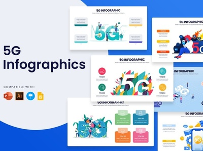 5G Slides icon google apple minimal modern powerpoint keynote illustrator development web development web banners web banner banner poster template google slides slides slide 5g slide 5g