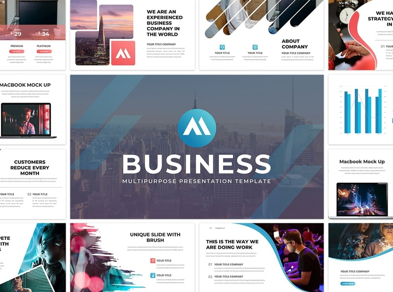 Business 61 Creative Slide - PowerPoint Template website simple agency company corporate professional presentation clean minimal modern template google slide template google slides template google slides creative design powerpoint google slide creative slide creative business