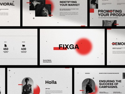 Fixga - Powerpoint web development web design website professional simple creative presentation business clean modern template powerpoint templates powerpoint design powerpoint presentation minimalistic minimalism minimalist powerpoint template powerpoint minimal
