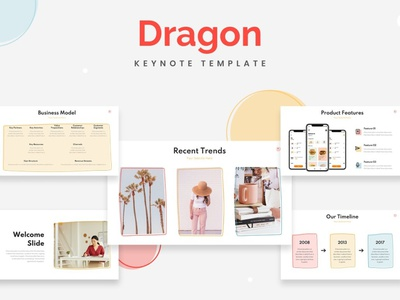 Dragon Startup Keynote Template concept development web development web design website professional elegant simple creative presentation business clean minimal modern template keynote design keynote templates keynote template keynote startup