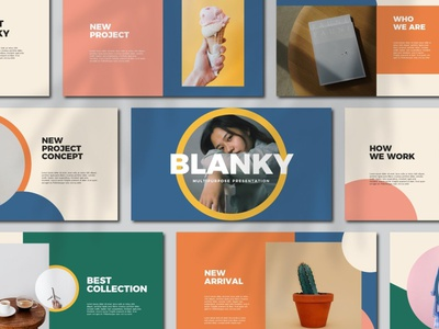 Blanky Google Slides creative minimal modern icons process strategy icon feautures responsive multipurpose agency concept web development web design website presentation template google slide template google slides google slide