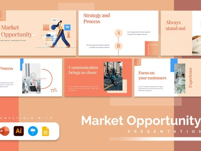Market Opportunity Template slides powerpoint multipurpose development web design illustration elegant simple creative presentation business clean minimal modern marketing web edsign website template opportunity market