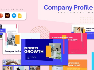 Company Profile Template google slides google slide keynote powerpoint template powerpoint creative presentation business clean minimal modern agency concept web development web design website template company profile profile company