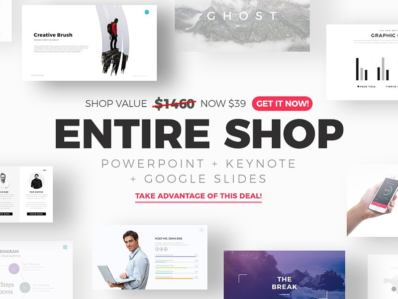 Entire shop free updates by templates dribbble entire shop presentation templates for powerpoint keynote and google slides themes toneelgroepblik Images