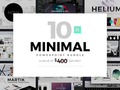 Minimal powerpoint templates bundle by templates dribbble minimal powerpoint templates bundle toneelgroepblik Gallery