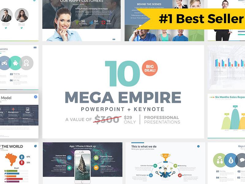 mega empire powerpoint keynote by templates dribbble dribbble