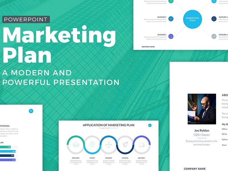 Marketing Plan Powerpoint Template by Templates - Dribbble