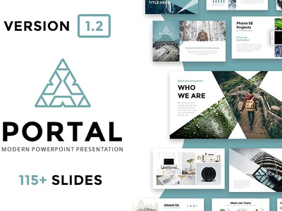 Portal modern powerpoint template by templates dribbble portal modern powerpoint template toneelgroepblik Image collections