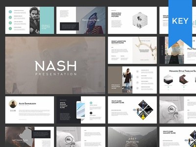 Nash Keynote Presentation  Gift By Templates  Dribbble