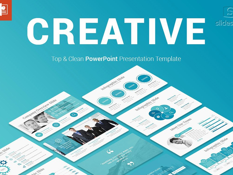 creative powerpoint template by templates dribbble dribbble
