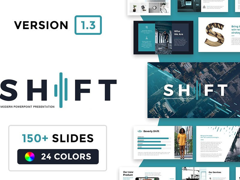 shift modern powerpoint template by templates dribbble dribbble